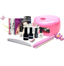 Gél lakk induló készlet 18W-os pink UV lámpával
