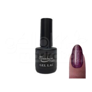 Gél lakk 6ml #100 sötét csillámos lila