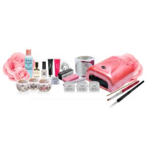 Zselés műköröm szett 36W-os pink UV lámpával