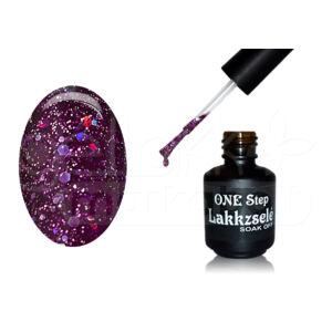 ONE step géllakk 5ml #264 Sötétbordó szivárvány glitterrel